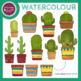 Cactus Watercolor Clip Art Set