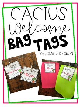 Cactus Welcome Bag Tags