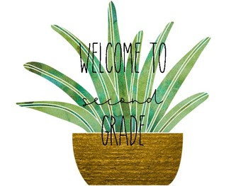 Cactus Welcome Posters (K-5)
