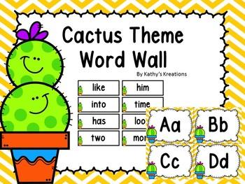 Cactus Word Wall & 200 Fry Words Chevron