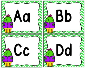 Cactus Word Wall & 200 Fry Words Editable