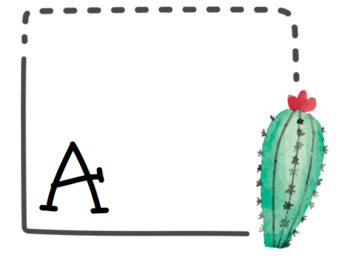 Cactus Word Wall - (Cursive and Uppercase)
