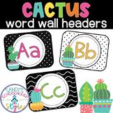 Cactus Word Wall Headers- Classroom Decor