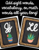 Cactus Word Wall Letter Headers!
