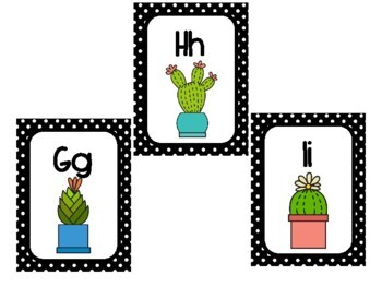 Cactus Word Wall Letters