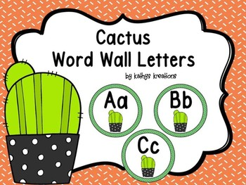 Cactus Word Wall Letters Dollar Deal