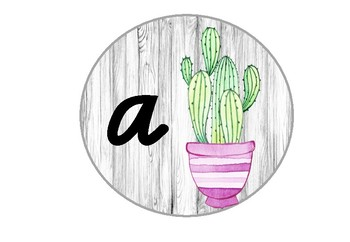 Cactus Word Wall in Victorian Modern Cursive (as requested)