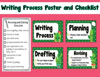 Cactus Writing Process Poster and Checklist