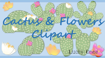 Cactus and Flowers Clip-art