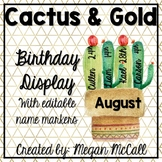 Cactus and Gold Birthday Display