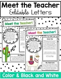 Cactus and Llama Meet the Teacher Letter for Back to School