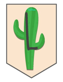 Cactus and Llama Welcome Banner