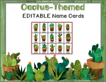 Cactus and Rustic Wood Behavior Clip Charts and Calendar Editable BUNDLE