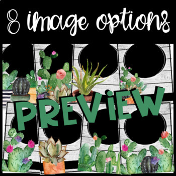 Cactus and Shiplap Binder Covers (EDITABLE)