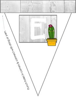 Cactus and Shiplap Welcome Banner - Free