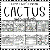 Cactus and Succulent Classroom Decor Bundle