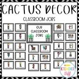 Cactus and Succulent Classroom Decor: Classroom Jobs