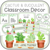 Cactus and Succulent Classroom Decor - EDITABLE