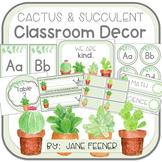 Cactus and Succulent Classroom Decor - EDITABLE