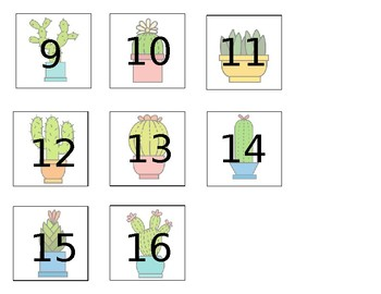 Cactus and Succulent Theme Book Box Labels (editable)