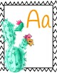 Cactus and Succulents Alphabet Posters
