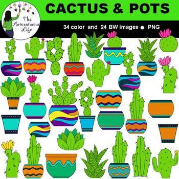 Cactus and Succulents Clip Art