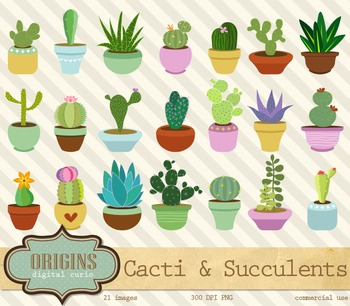 Cactus and Succulents Clipart