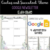 Cactus and Succulents EDITABLE Newsletter Template | Googl