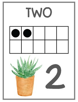 Cactus and Succulents Number Posters 1-20