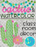 Cactus and Watercolor Decor