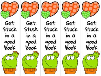 Cactus bookmark orange