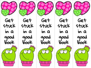 Cactus bookmark pink