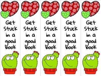 Cactus bookmark red