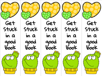 Cactus bookmark yellow