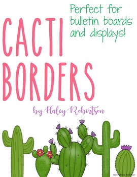 Cactus border *for bulletin boards and displays*