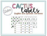 Cactus classroom labels
