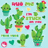 Cactus clipart commercial use, vector graphics, digital  - CL1050