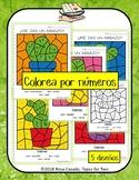 Cactus colorea por numero Color by Number