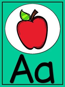 Cactus colors classroom alphabet