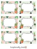 Cactus or Succulent Classroom Theme Labels