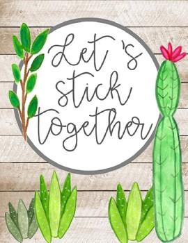 Cactus posters,  watercolor cactus, cactus decor, cactus quotes, cactus decor