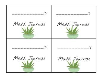 Cactus/succulent and chalkboard classroom theme Materials