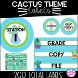 Cactus theme   Classroom Decor   Labels   editable