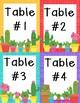 Cactus theme nameplates and table numbers freebie!