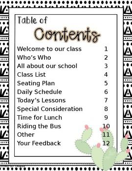 Editable Substitute Handbook - Cactus Theme!