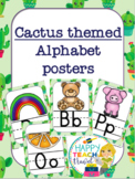 Cactus themed alphabet posters and desk name plates
