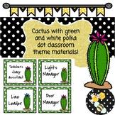 Cactus & polka dot Classroom Theme