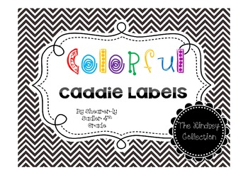Caddie Labels-Multi Colored