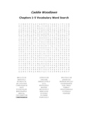 Caddie Woodlawn Ch. 1-5 Vocabulary Word Search - Brink