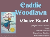 Caddie Woodlawn Choice Board Novel Study Activities Menu Book Project Rubric